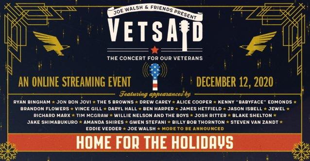 JAMES HETFIELD, EDDIE VEDDER, ALICE COOPER, JON BON JOVI To Perform At JOE WALSH's 'VetsAid' Concert
